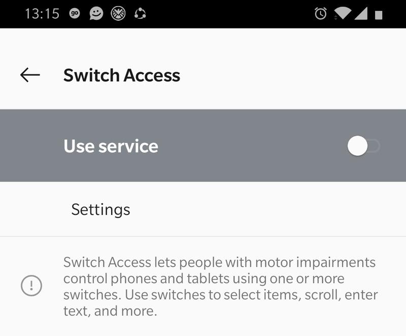 Switch        Uyarı sayfasına eriş