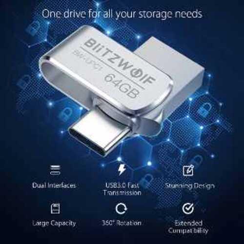 ▷ USB tipo C y USB 3.0, Conexión dual en memoria 64 GB + este cupón de descuento 2