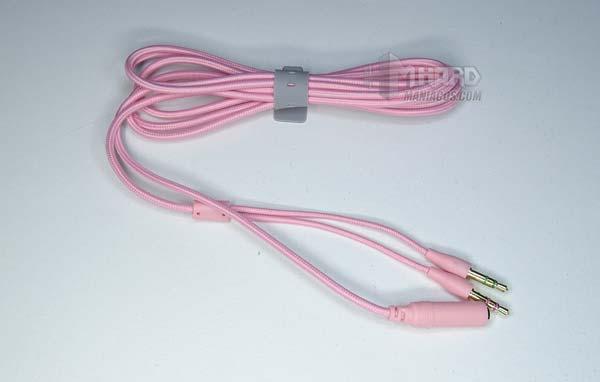 Razer Kraken Quartz Pink kuulokesovitinkaapeli