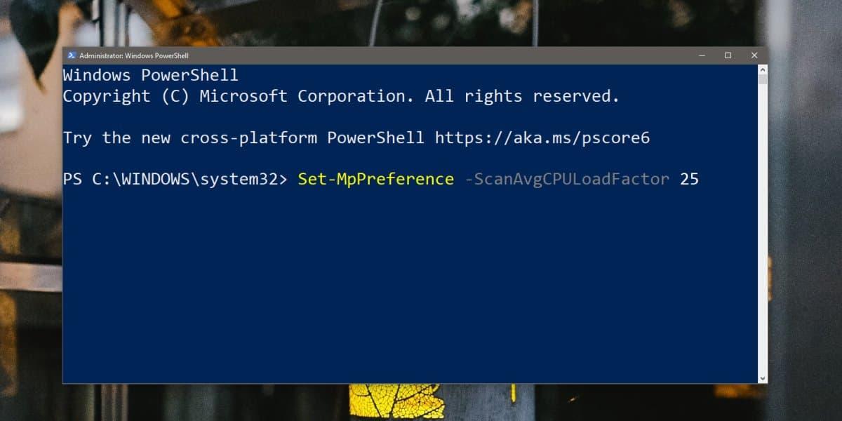 Cómo limitar Windows Uso activo de CPU Defender Windows 10 1