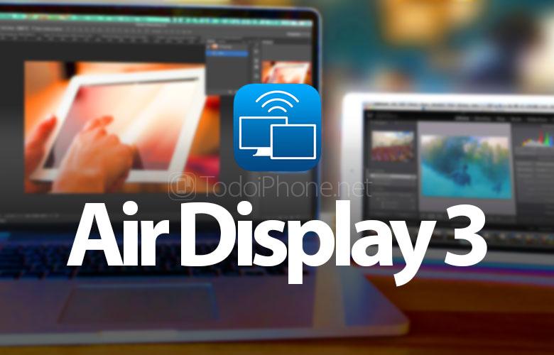 Hava ekrani 3, USB və Wi-Fi ilə bir iPhone və ya iPad-də Mac ekranlarını kopyalamaq üçün bir tətbiq 2