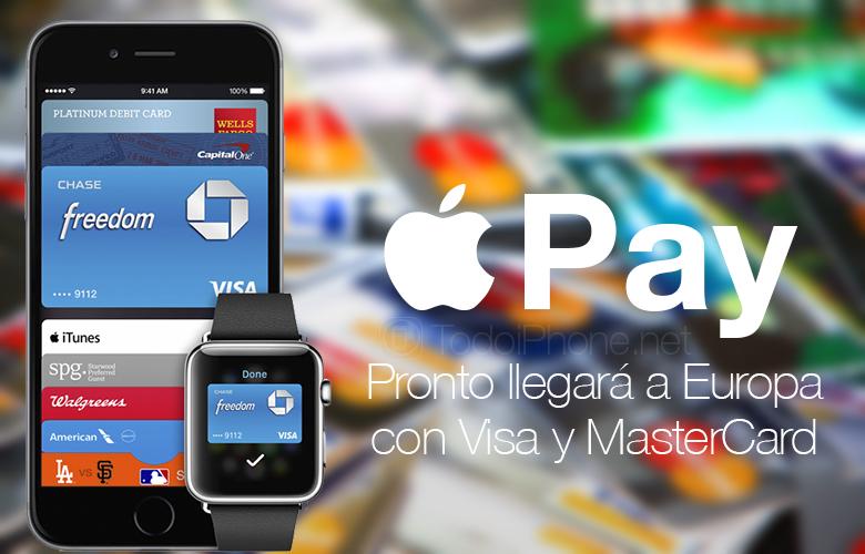 Apple Pay        Cyn bo hir bydd ar gael yn Ewrop gyda Visa a MasterCard 2