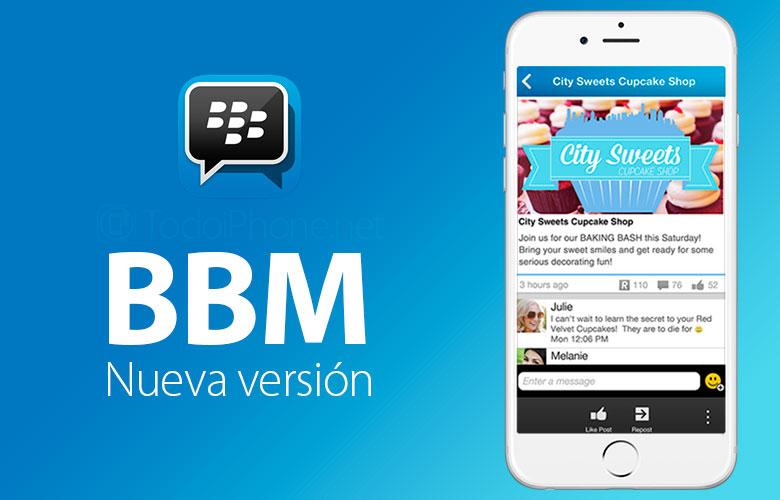 BBM Protected también está disponible en BBM para iPhone 2