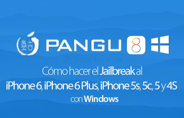 Cómo hacer jailbreak a un iPhone 6iPhone 6 Además, iPhone 5s, 5c, 5 y 4S con Pangu8 (Windows) 2