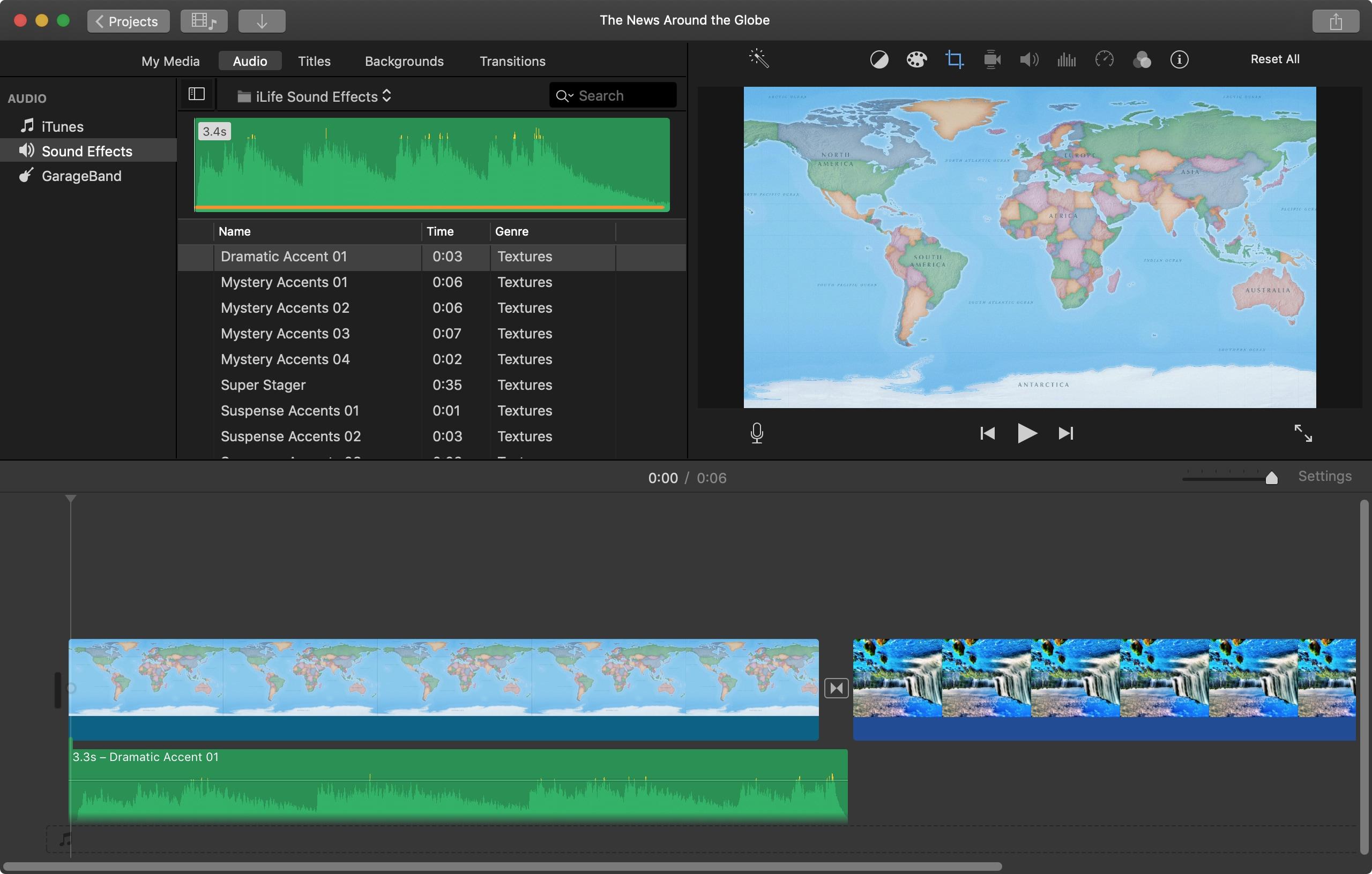 İMovie Mac-a musiqi effektləri əlavə edin