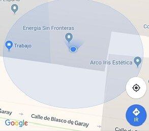 Kuva - pysäköintipaikan tallentaminen Google Mapsiin