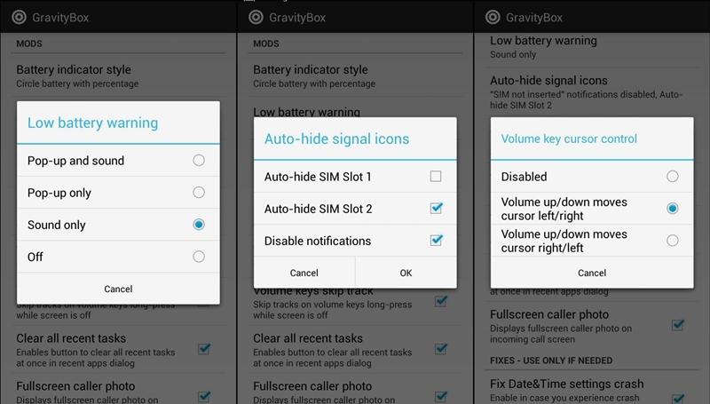 Mukauta Android GravityBox -sovelluksella