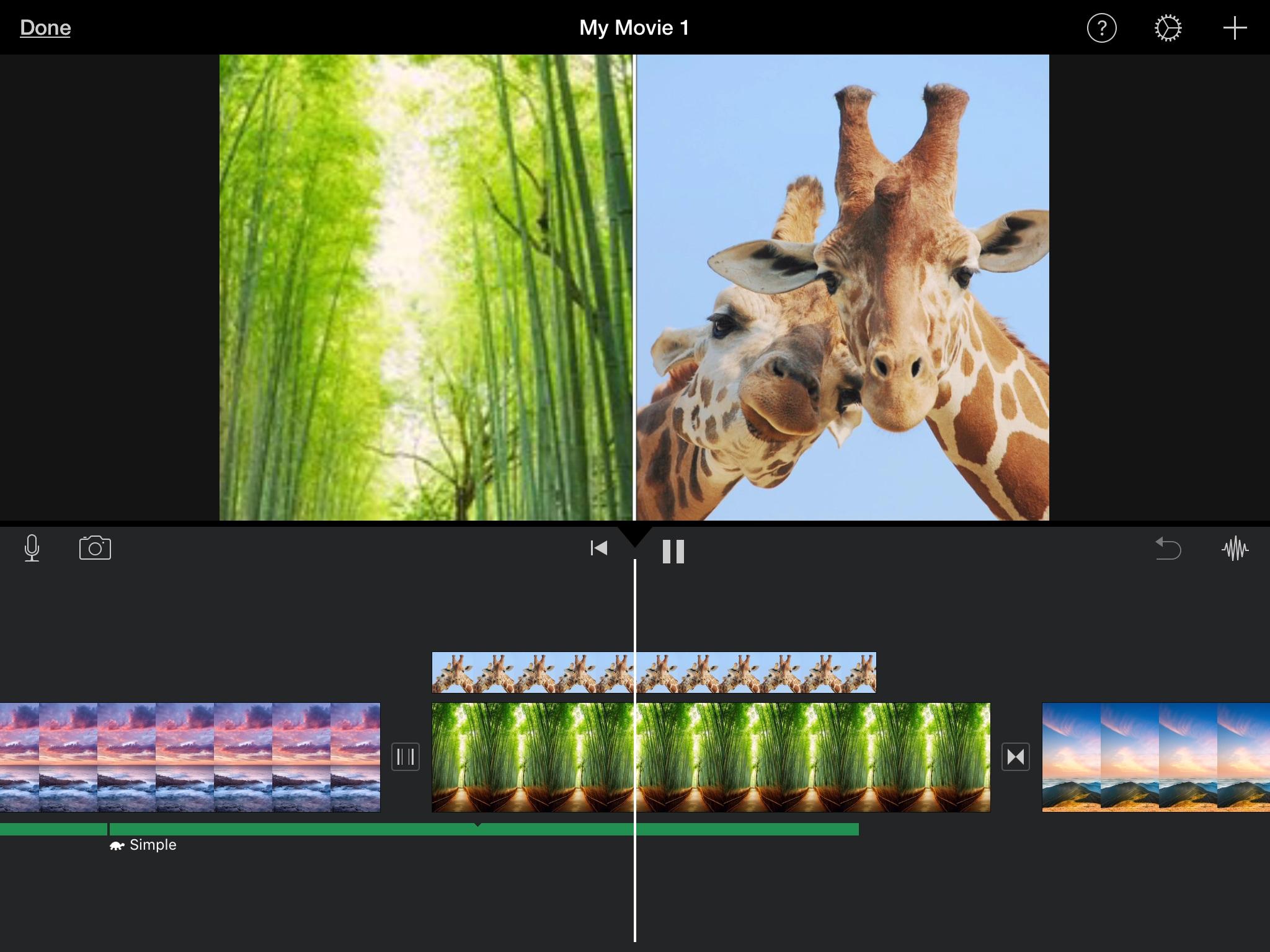 IMovie chia sẻ màn hình trên iPad