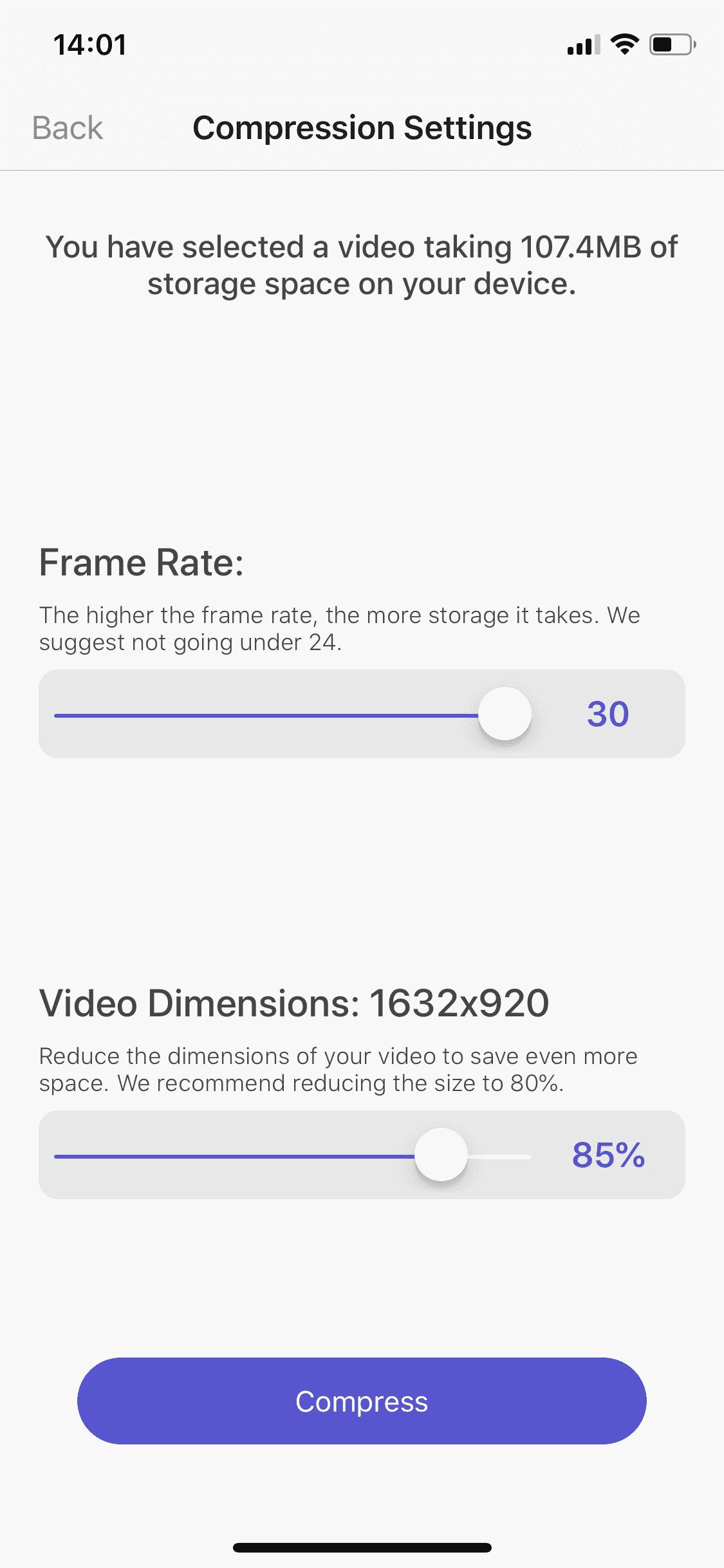 Video boyutlarını azaltın
