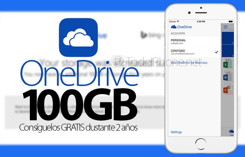 100 alın GB tərəfindən OneDrive-da 2 PULSUZ il 2