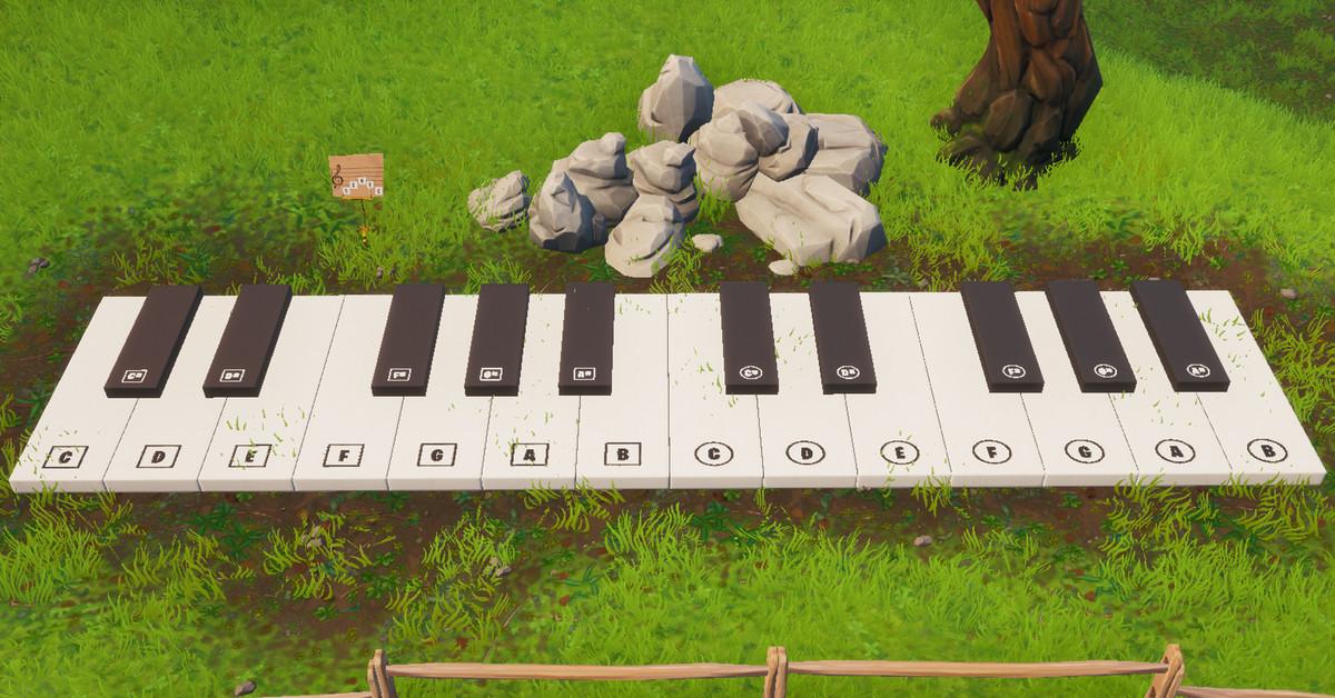Fortnite    misyon: çok büyük bir piyanoyu ziyaret edin ve Boogie Down 2 rehberinin misyonundan bir müzik sayfası çalın