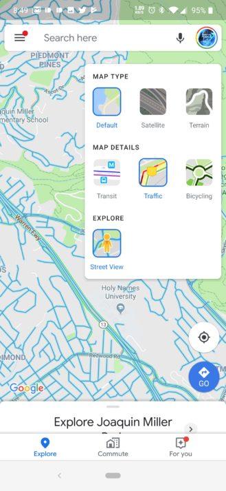 İndi Android-də Google Xəritədə Street View təbəqəsi var 1