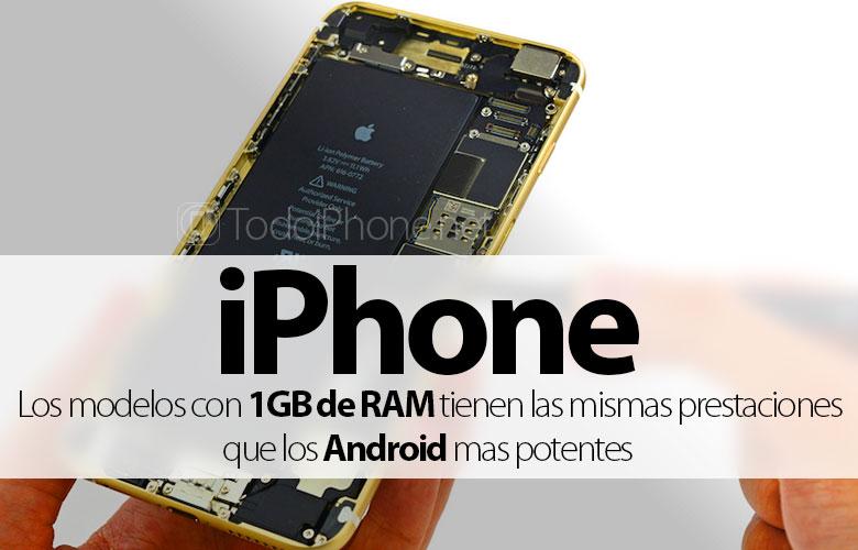 IPhone với 1 GB  RAM có các tính năng tương tự như Android mạnh nhất 2