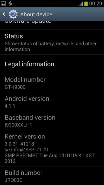 Asenna Android XXDLH4 4.1.1 sisään Galaxy S3 I9300 Jelly Bean, virallinen ohjelmisto ODINilta 1