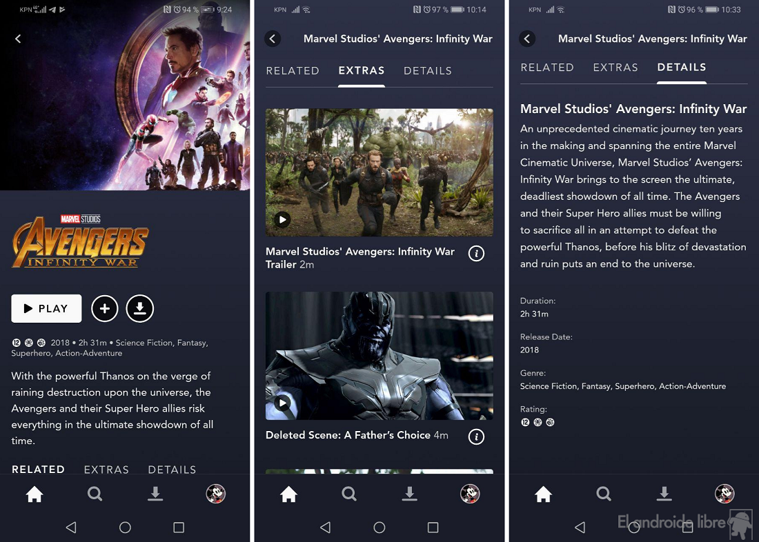 Disney + -i Android-də sınaqdan keçirdik: bu Disney axın xidmətidir 1