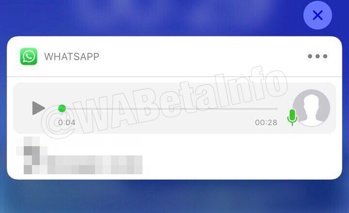 Hal-hazırda beta testində olan iOS bildirişləri üçün WhatsApp səs çalışı 1
