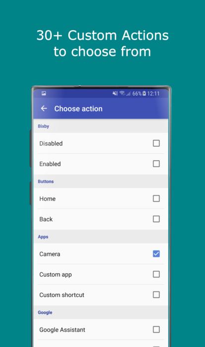 REMAP Samsung Galaxy Note        10 / Note 10 Plus güc düyməsi - Yan hərəkətlər 1