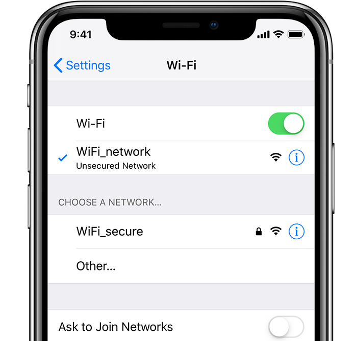 iPhone XR Wifi