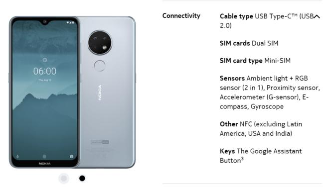 [Update: Just India] Nokia 6.2 dan 7.2 tidak akan memiliki NFC di beberapa pasar - itu berarti tidak ada Google Pay 1