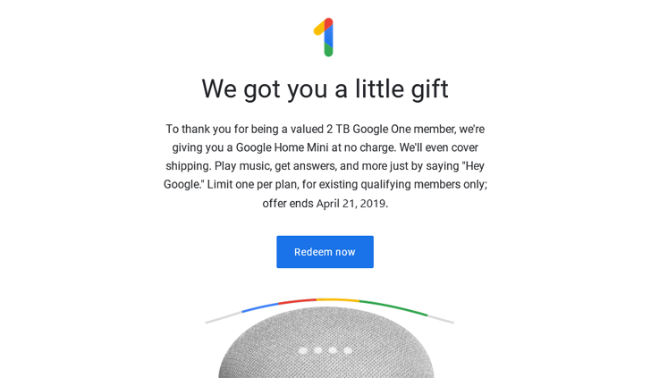 [Update: More countries] Google menawarkan pelanggan Home Mini to One gratis di AS, Kanada 1