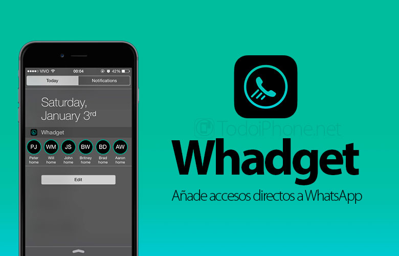Un gadget, un widget que agrega accesos directos de WhatsApp a tu iPhone 2