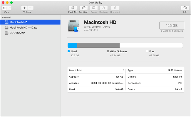 MacOS stored separately