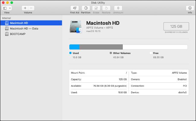 MacOS almacenado por separado