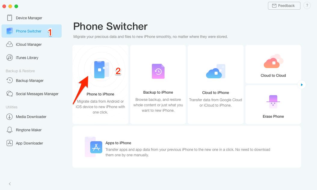 AnyTrans xülasəsi 8 - 2020-ci ildə sınayacaq ən yaxşı iPhone meneceri 1