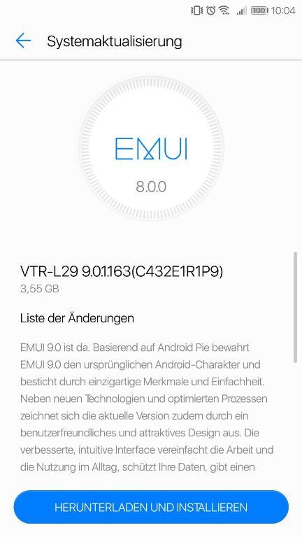 huawei p10 pembaruan Android p