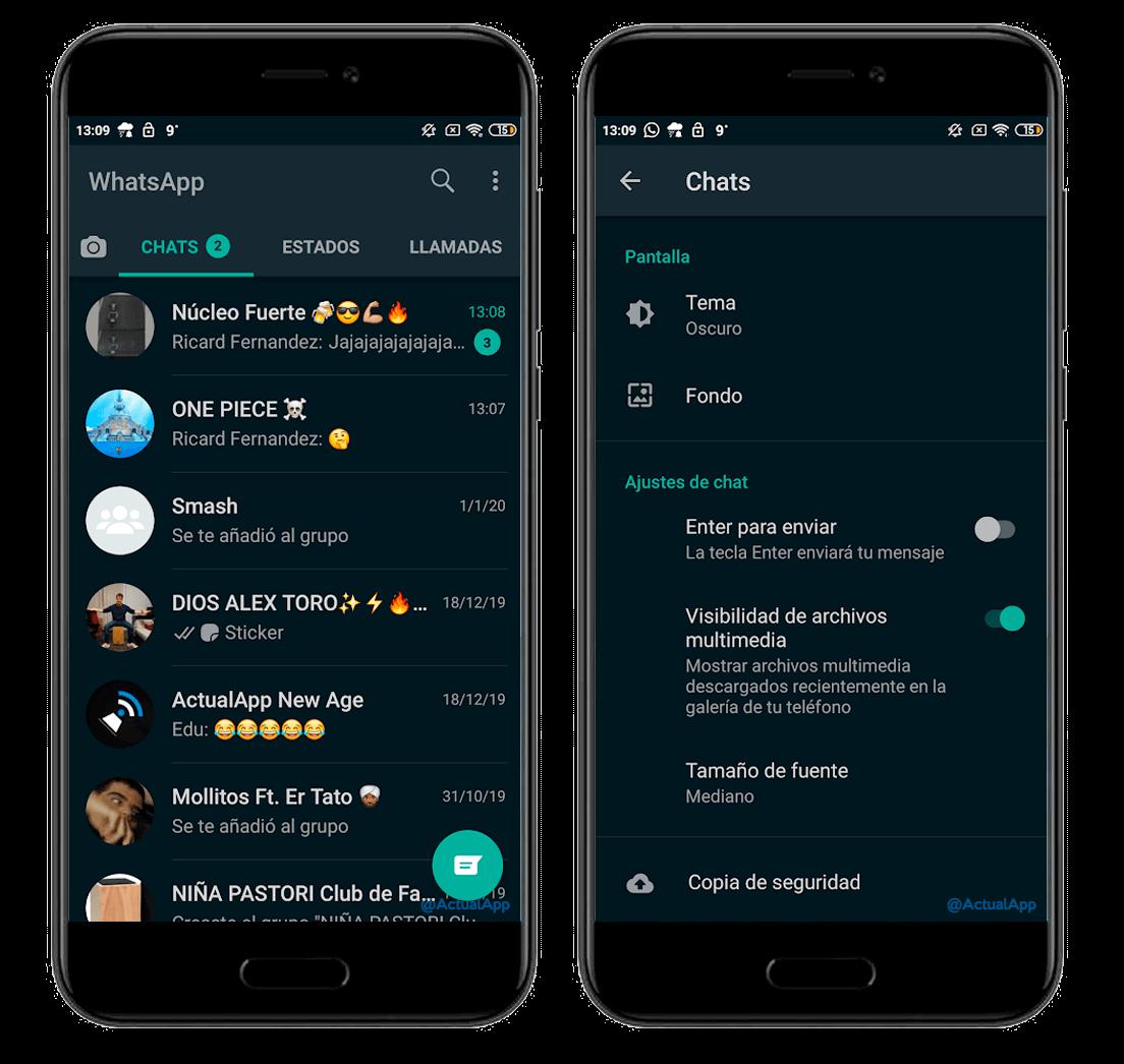 WhatsApp qaranlıq Android Beta rejimi