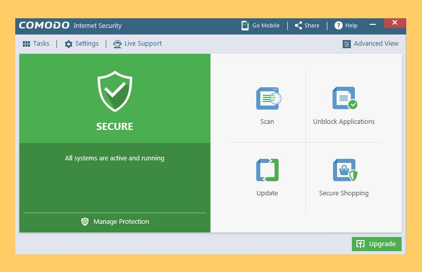 Keamanan Internet Comodo