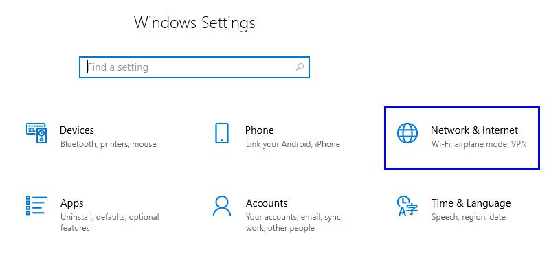 Etapas sobre como alterar o endereço IP em Windows 10