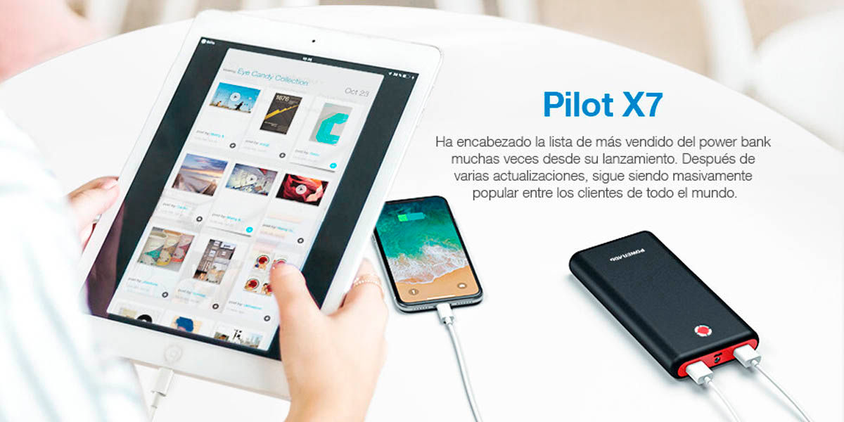 "Poweradd Pilot X7 Powerbank ""width ="" 1200 ""height ="" 600"