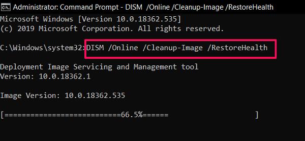 mejora windows 10 usando la herramienta DISM