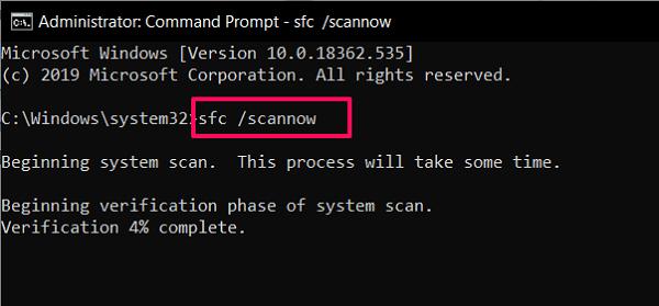 Comprobador de archivos del sistema para reparar los dañados windows 10 archivos