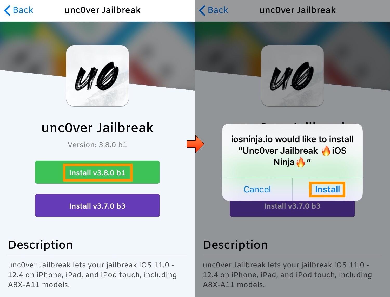 Cómo usar iOS Ninja para instalar jailbreak que nunca se ha hecho sin una computadora 12