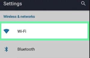 Ayarlarda WiFi seçenekleri