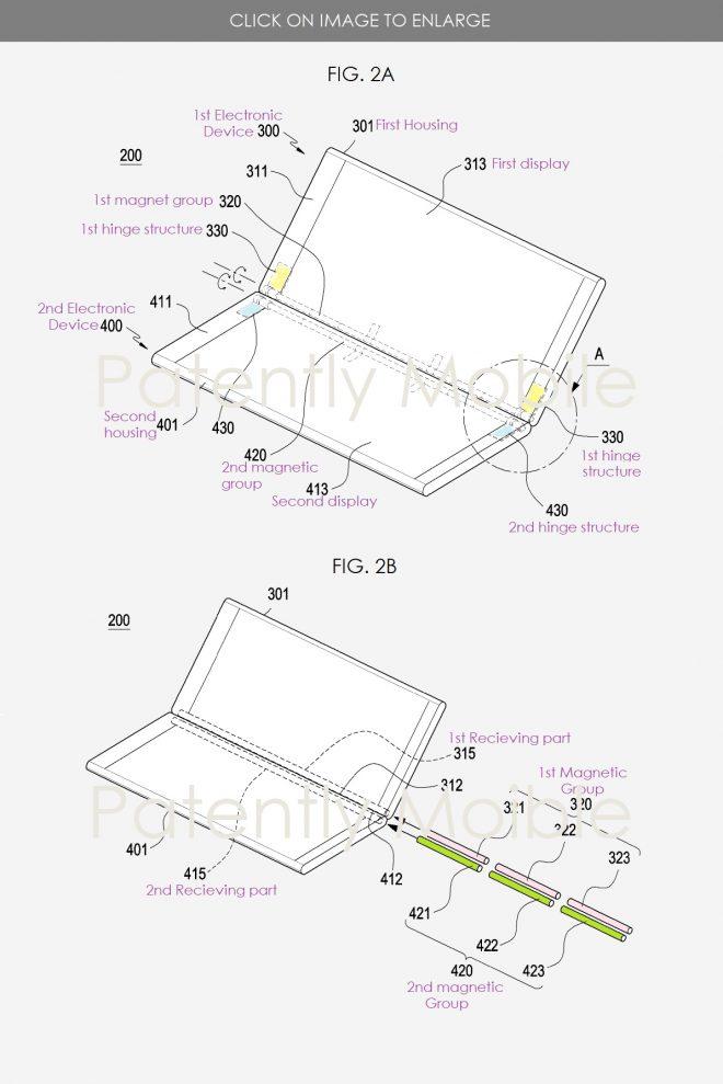 Samsung براءات الاختراع الذكية الجديدة المفصلي المغناطيسي للهواتف الذكية المزدوجة الشاشة ؛ هذا هو الجديد 3