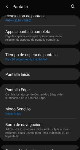 Поставки на екранот со Android /