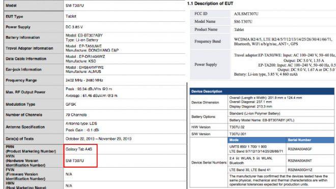 Samsung Galaxy Mã thông báo A4 có thông số kỹ thuật được tiết lộ thông qua chứng nhận của FCC 2