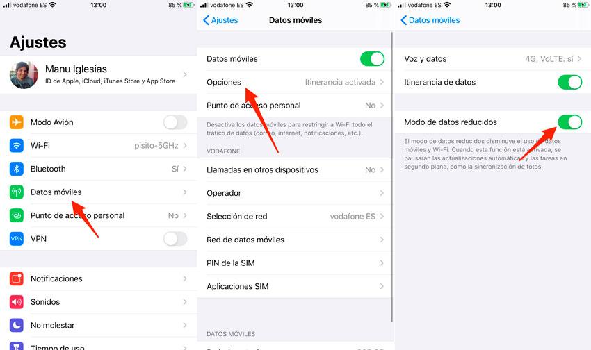 Kích hoạt iPhone giảm chế độ dữ liệu từng bước