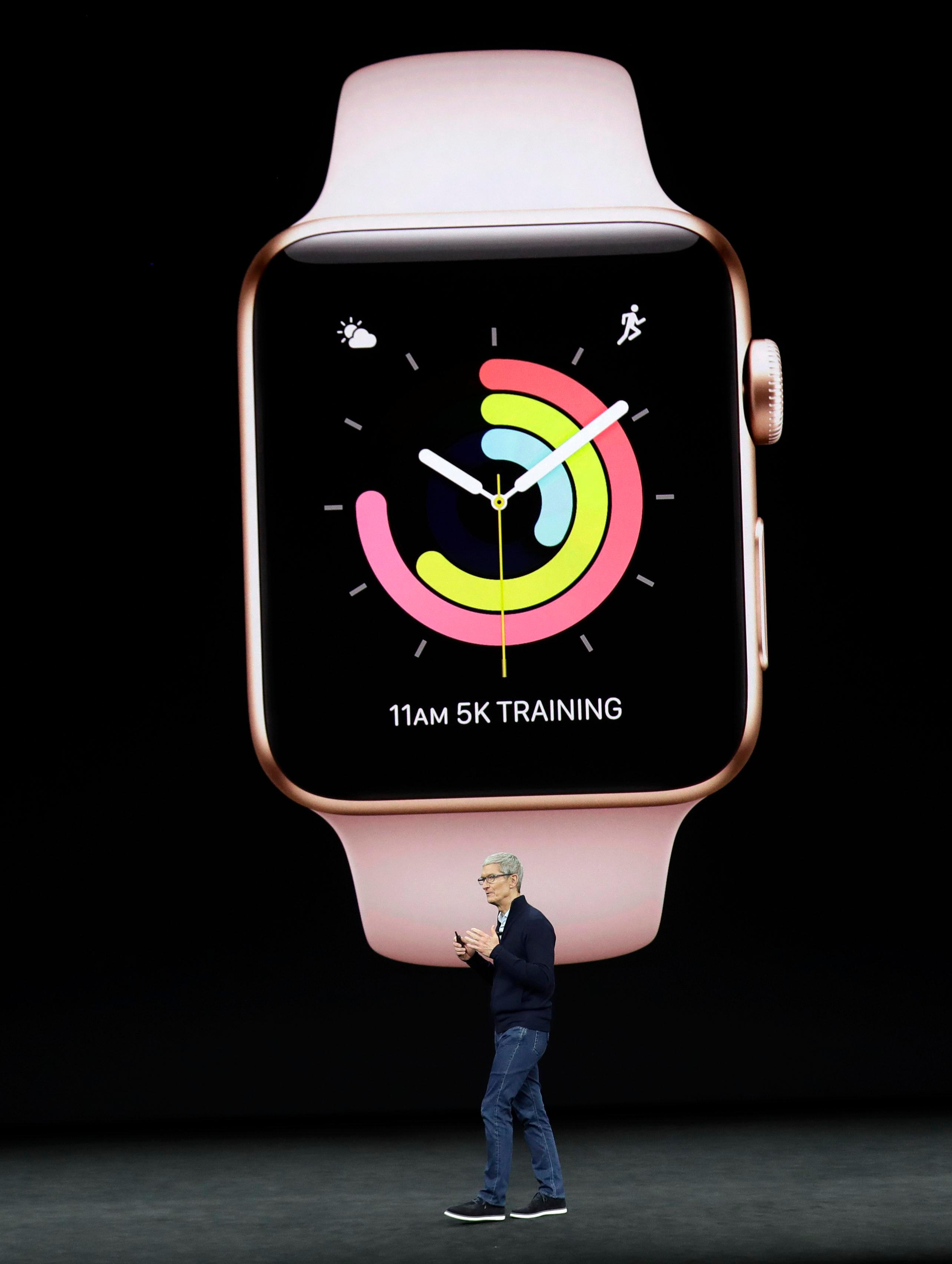 Na nových hodinkách Tim Cook ukázal rôzne fitness funkcie
