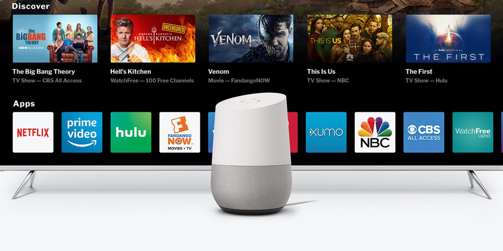 Página de inicio de Google con TV VIZIO