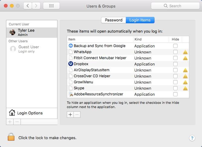 Mac-da Başlanğıc Proqramlarını necə idarə etmək olar 1