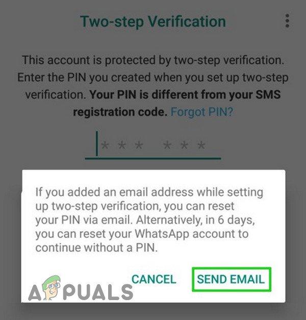Ako obnoviť zabudnutý kód WhatsApp PIN? 4