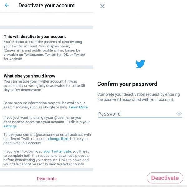 Deaktivácia účtov v sociálnych sieťach - Twitter