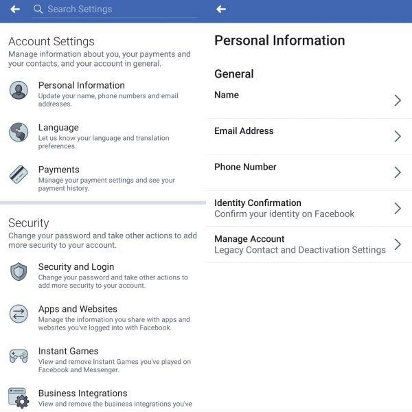 Deaktivujte účet v službe Facebook 2