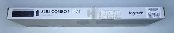 il lato lungo della casella combinata logitech mk470