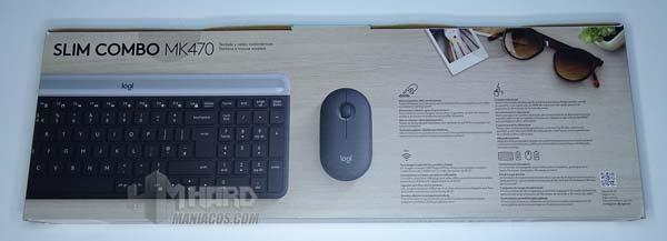 klaviatura və siçan arxasında logitech incə kombayn MK470
