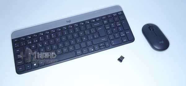 rimuovere la tastiera e il mouse wireless Logitech MK470
